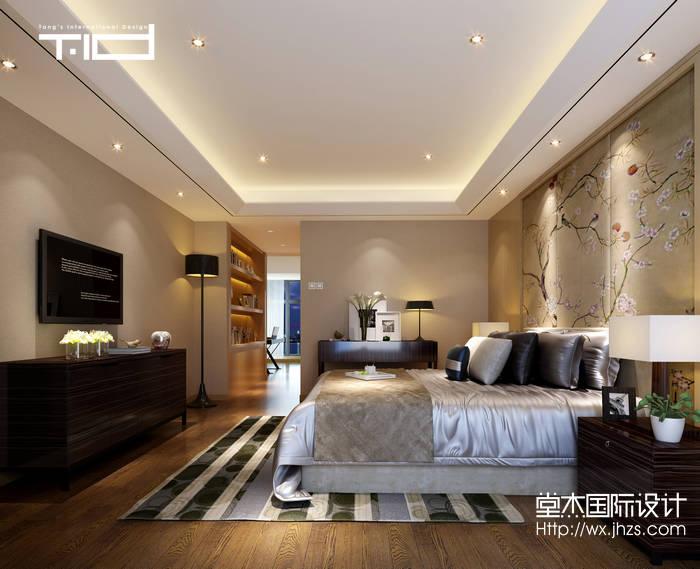 混搭风格-国联恒园-大户型-260平-卧室-装修效果图