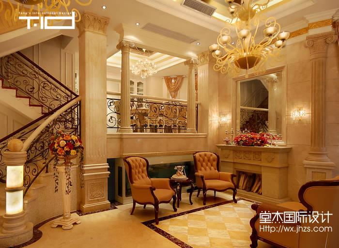 别墅实景图装修 别墅图片大全 欧式古典风格 无锡锦华装饰