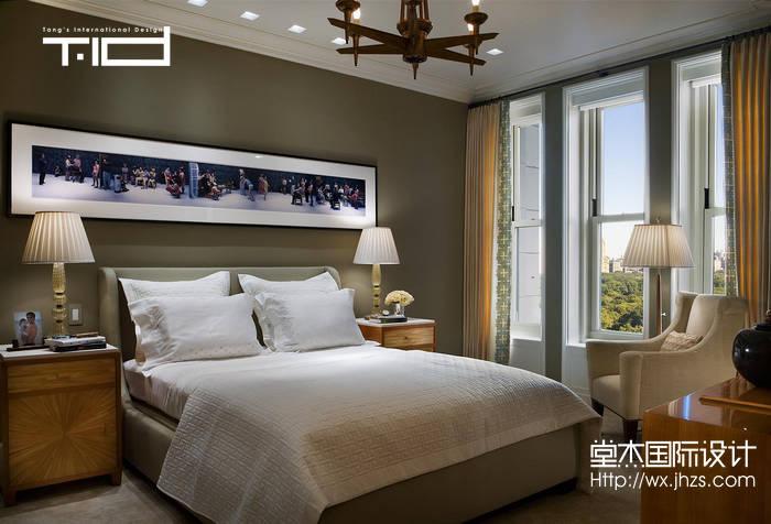 美式风格-西水东-大户型-203平-卧室-装修效果图
