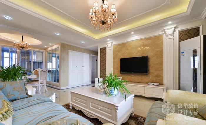 万达广场120平简欧风格实景样板间装修-三室两厅-简欧
