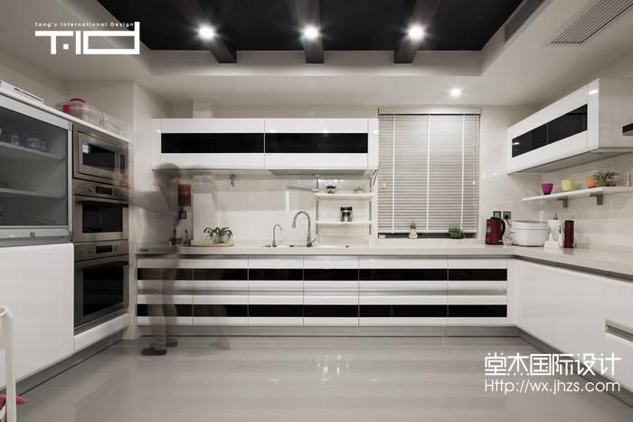 艺术风格-西水东-大户型-330平-厨房-装修效果实景图
