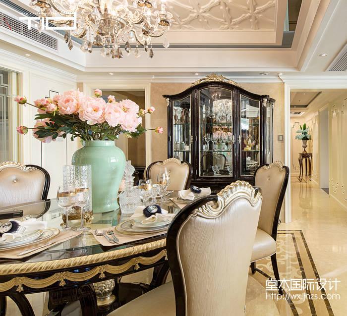 艺术风格-西水东-大户型-330平-餐厅-装修效果实景图