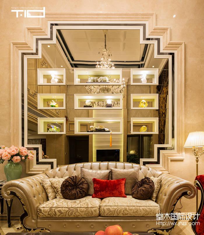 艺术风格-西水东-大户型-330平-客厅-装修效果实景图
