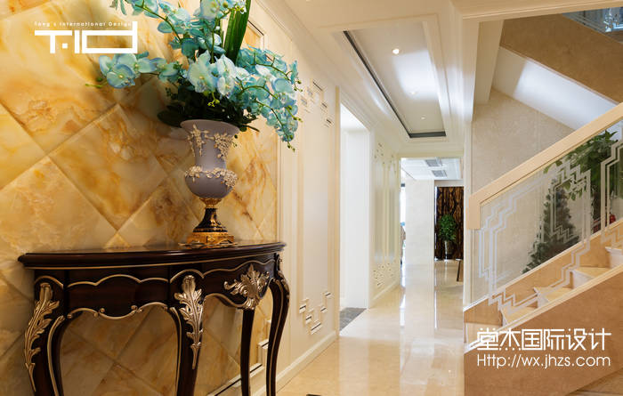 艺术风格-西水东-大户型-330平-玄关-装修效果实景图
