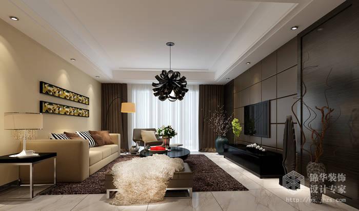 东城中央府160平现代简约风格效果图装修-大户型-现代简约