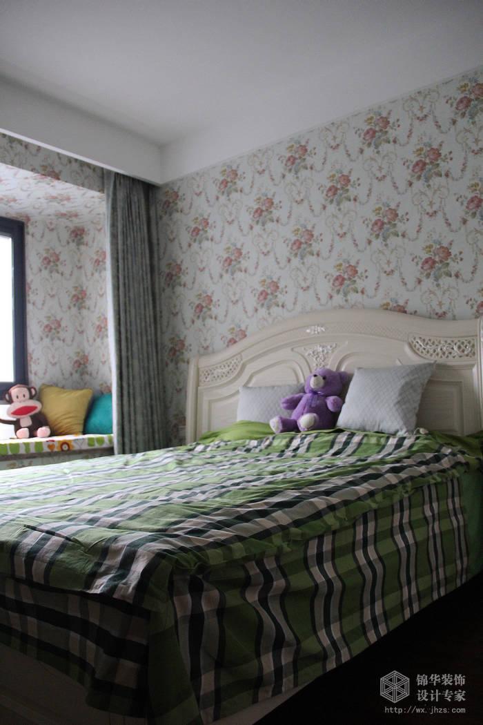 东宝康园116平简约美式风格实景样板间装修-两室两厅-美式田园