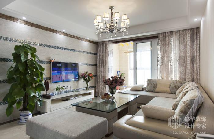 现代简约-理想城市-三室两厅-115平-装修实景效果图