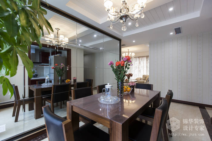 理想城市115平三房两厅两卫现代简约风格实景样板间装修-三室两厅-现代简约
