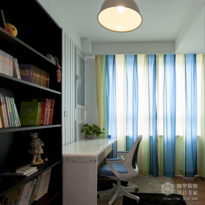 现代简约风格-绿地波士顿-三室两厅-105平米-书房-装修实景效果图