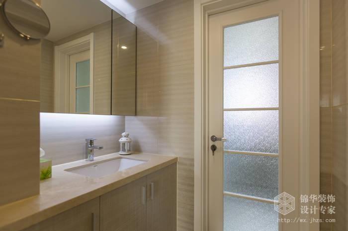现代简约风格-绿地波士顿-三室两厅-105平米-卫生间-装修实景效果图