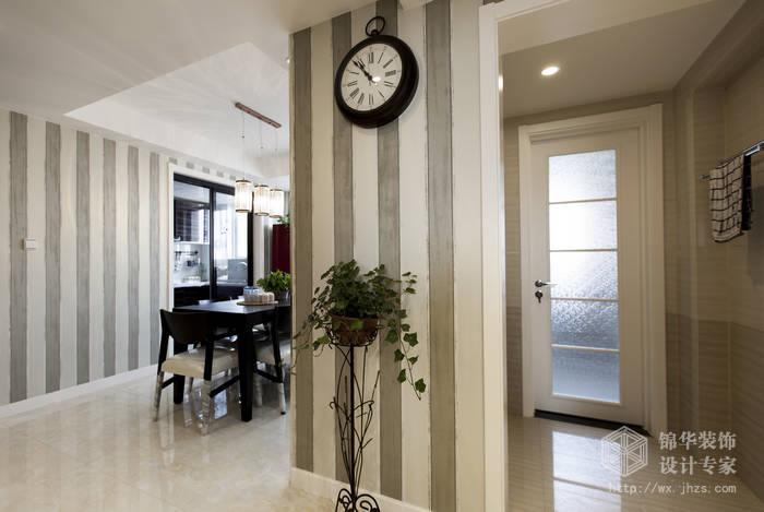 现代简约风格-绿地波士顿-三室两厅-105平米-过道-装修实景效果图