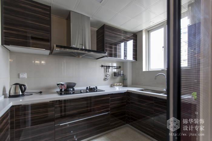 现代简约风格-绿地波士顿-三室两厅-105平米-厨房-装修实景效果图