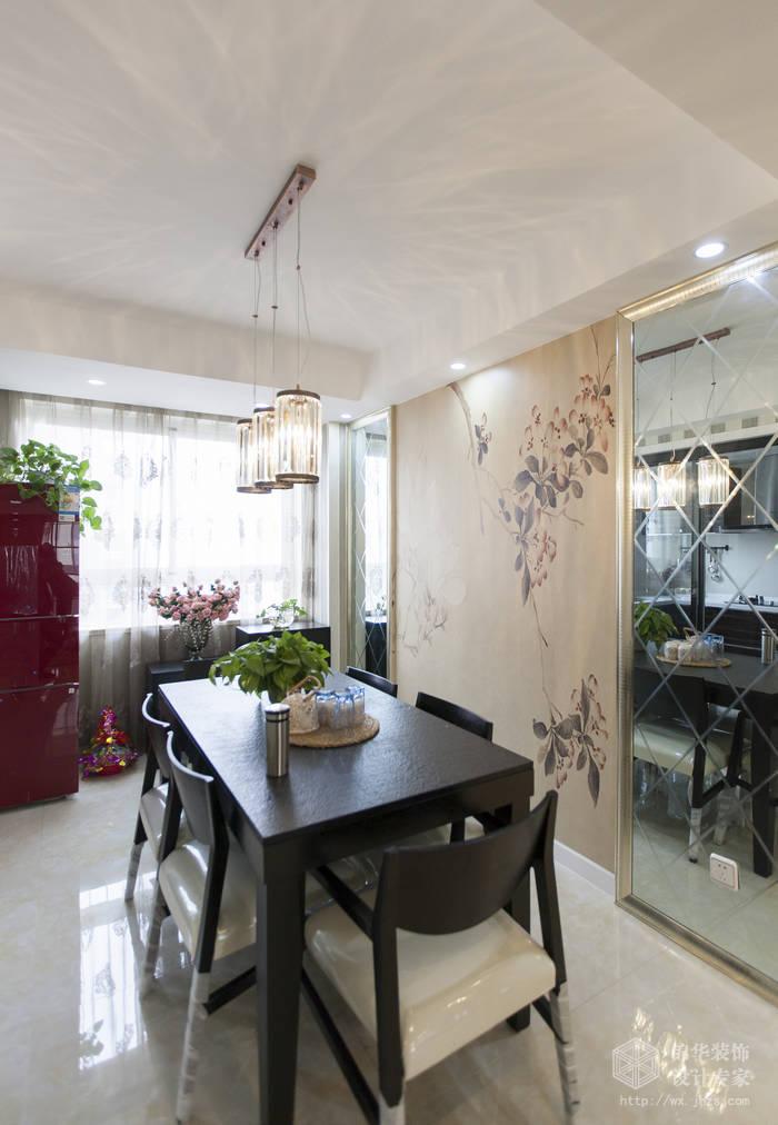 波士顿105平三房两厅两卫现代简约风格实景样板间装修 三室两厅装