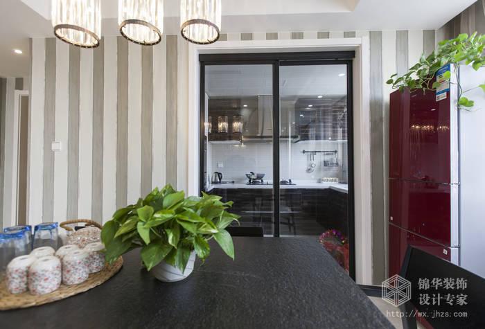 现代简约风格-绿地波士顿-三室两厅-105平米-餐厅-装修实景效果图