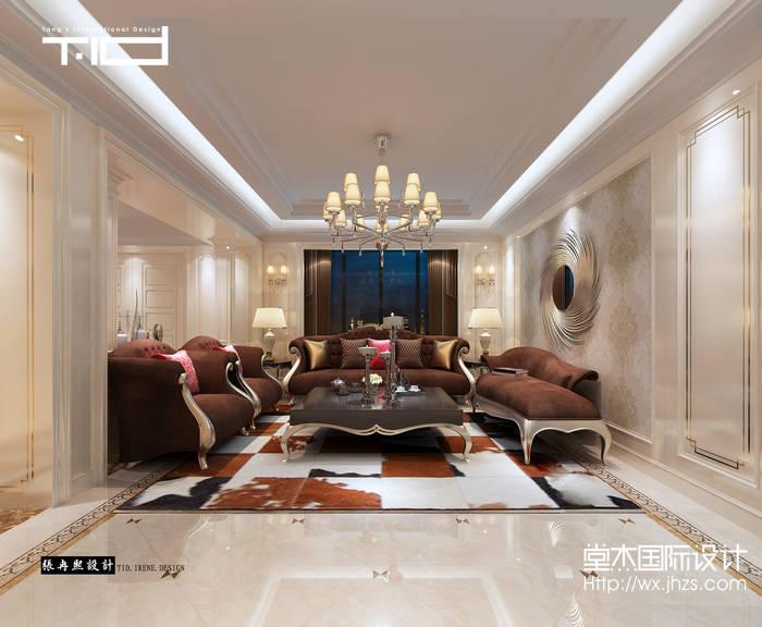 亚美利加300平后现代风格效果图装修-别墅-现代简约