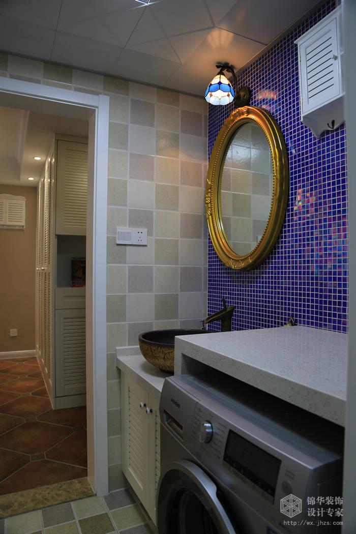 简约美式风格-大丁佳苑-两室两厅-95平-卫生间-装修实景效果图