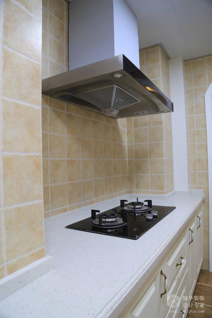 简约美式风格-大丁佳苑-两室两厅-95平-厨房-装修实景效果图