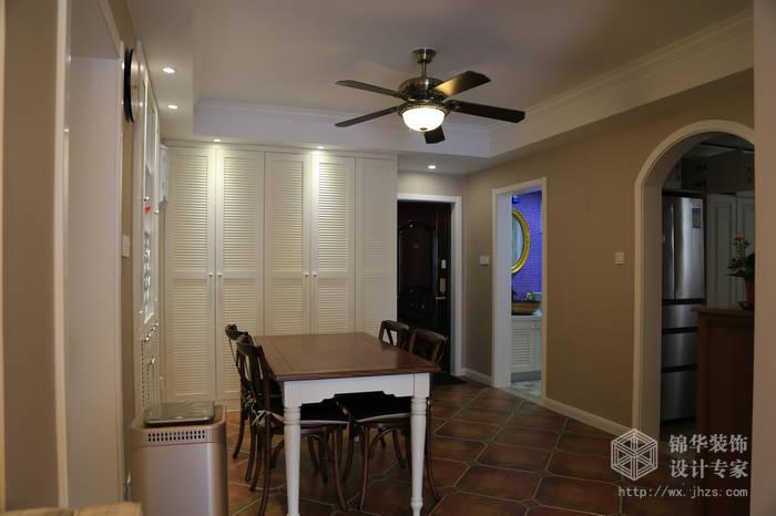 简约美式风格-大丁佳苑-两室两厅-95平-餐厅-装修实景效果图