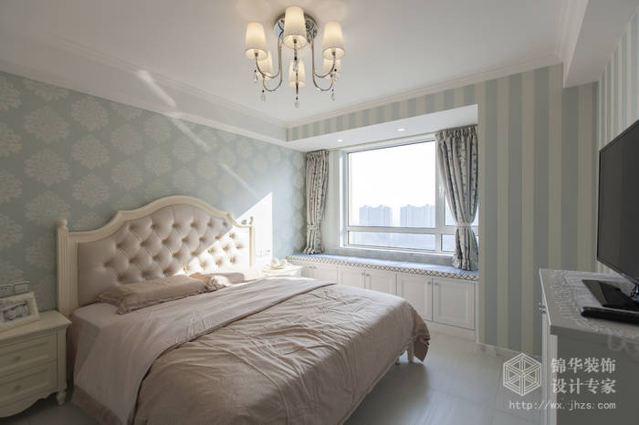 混搭风格-绿地世纪城-两室两厅-115平-卧室-装修效果实景图
