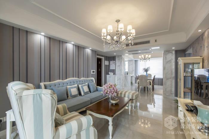 混搭风格-绿地世纪城-两室两厅-115平-客厅-装修效果实景图