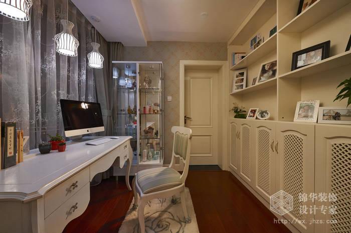 现代简约-西水东-四室两厅-194平-书房-装修效果实景图
