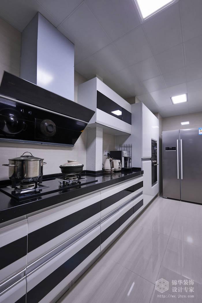 现代简约-西水东-四室两厅-194平-厨房-装修效果实景图