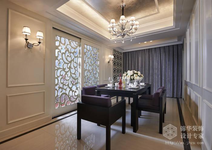 现代简约-西水东-四室两厅-194平-餐厅-装修效果实景图