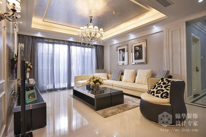 现代简约-西水东-四室两厅-194平-客厅-装修效果实景图