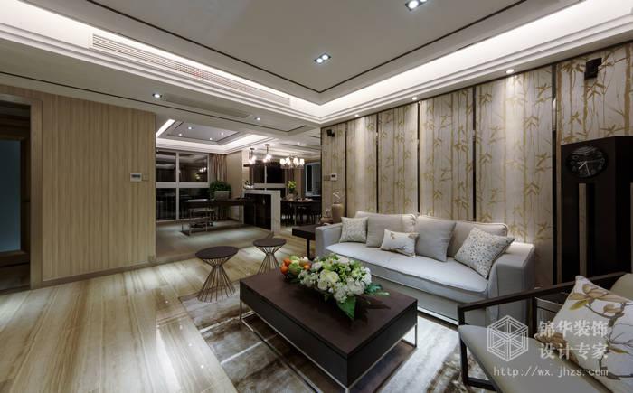 金科世界城120平现代东方风格三室两厅两卫实景图