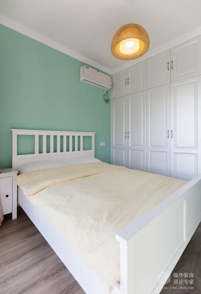 融创熙园89平现代简美风格实景图装修-两室两厅-美式田园