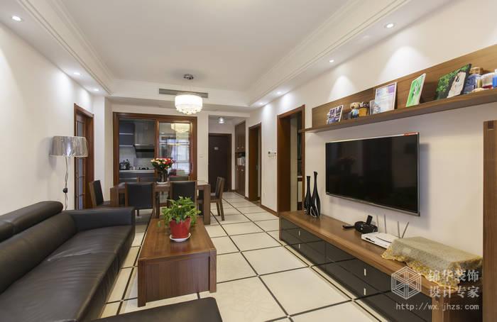 融创熙园89平现代简约风格实景图装修-两室两厅-现代简约