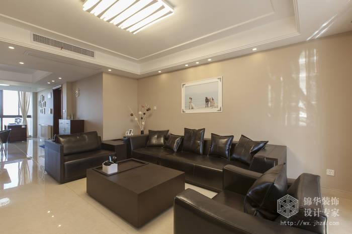 太湖国际132平现代简约风格实景图 装修-三室两厅-现代简约
