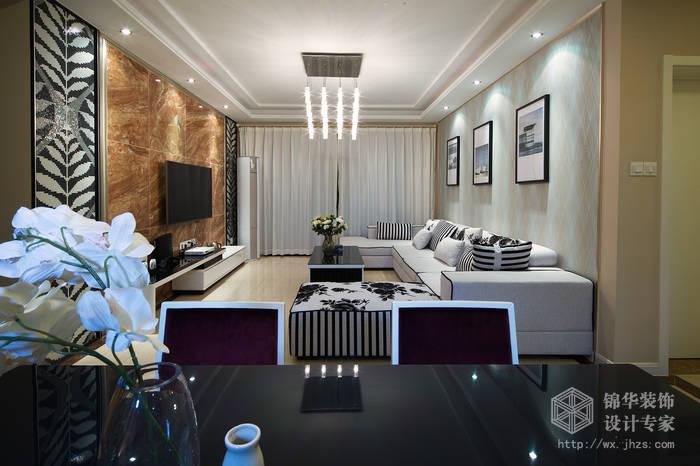 现代简约风格-繁华里-三室两厅-121平-装修实景效果图