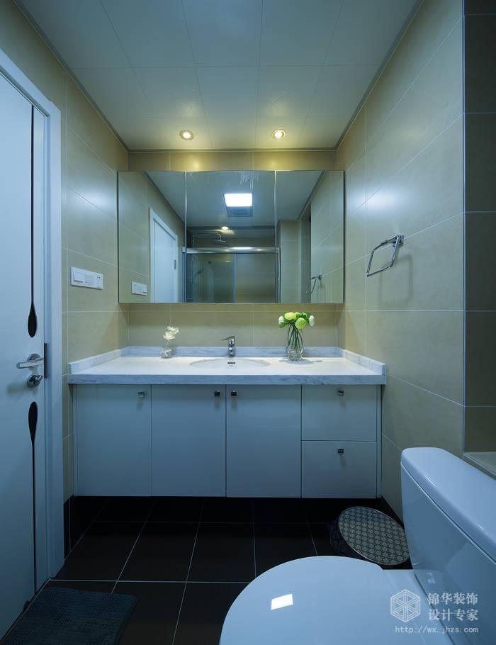 现代简约风格-繁华里-三室两厅-121平-卫生间-装修实景效果图