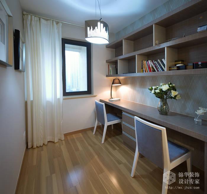 现代简约风格-繁华里-三室两厅-121平-书房-装修实景效果图
