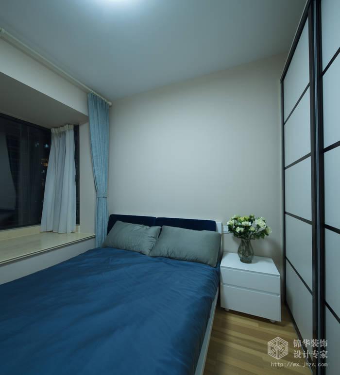 现代简约风格-繁华里-三室两厅-121平-卧室-装修实景效果图