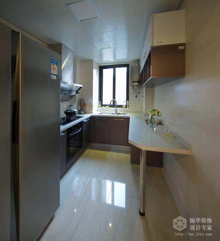 现代简约风格-繁华里-三室两厅-121平-厨房-装修实景效果图