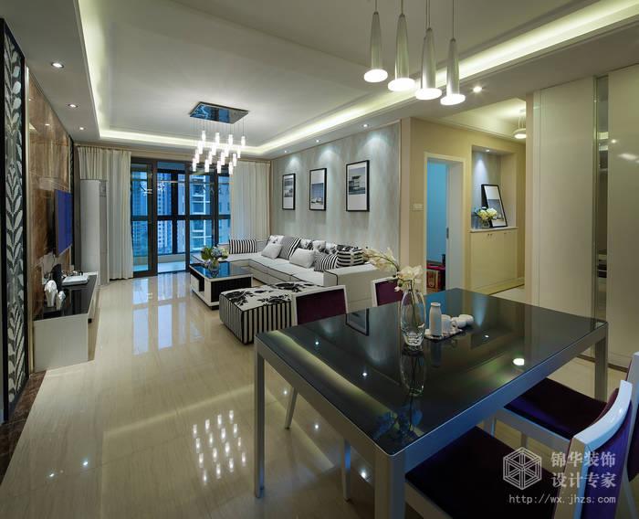 现代简约风格-繁华里-三室两厅-121平-餐厅-装修实景效果图