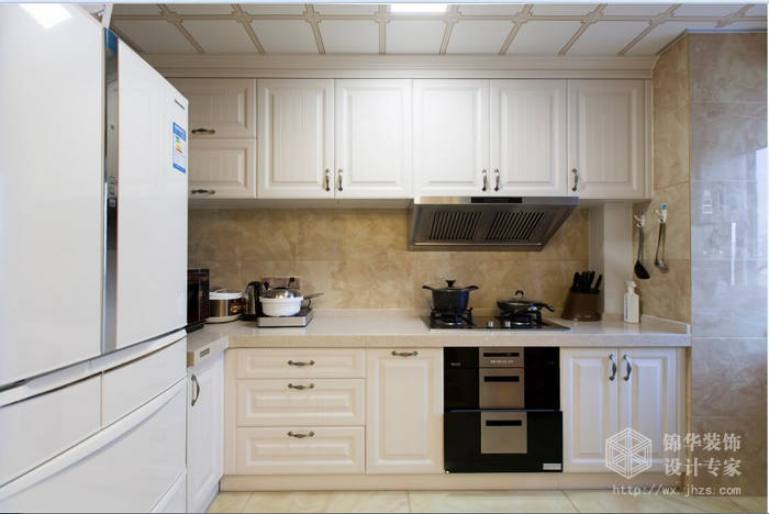 简欧风格-惠山万达华府-三室两厅-128平-厨房-装修效果实景图