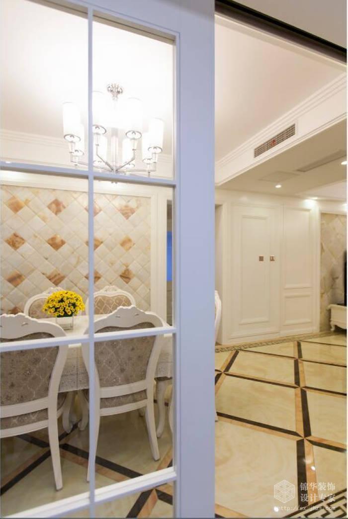 简欧风格-惠山万达华府-三室两厅-128平-过道-装修效果实景图
