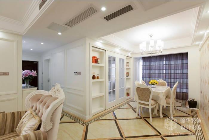 简欧风格-惠山万达华府-三室两厅-128平-餐厅-装修效果实景图