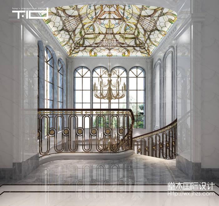 欧式别墅内部楼梯