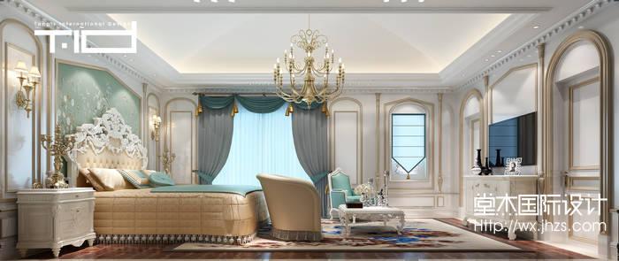 太湖锦绣园580平独栋别墅新奢华风格效果图装修-别墅-新古典