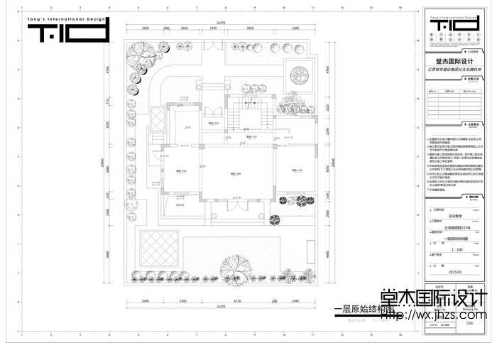 简欧风格-太湖锦绣园-别墅-450平-户型图-装修效果图