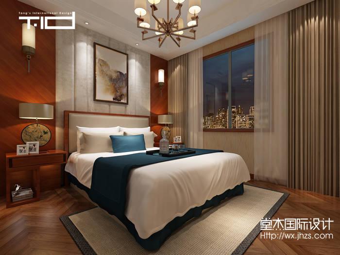 简欧风格-太湖锦绣园-别墅-450平-户型图-卧室-装修效果图