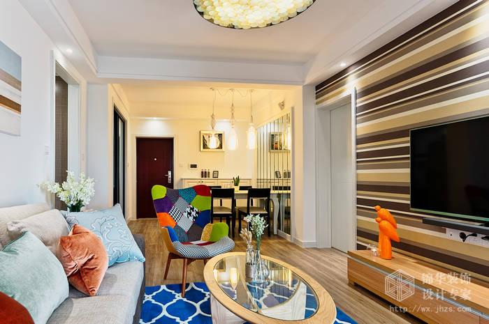 长江国际朗庭89平两室两厅一卫现代简约风格实景图装修-两室两厅-现代简约