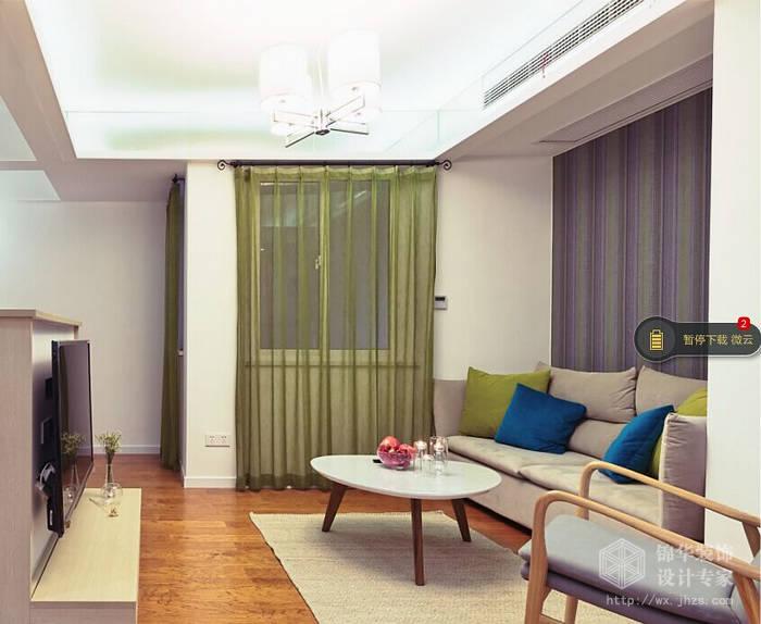 复地悦城89平两室两厅北欧风格实景图装修-两室两厅-简欧