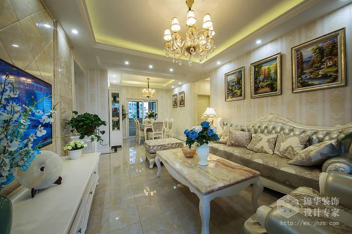 碧桂园120平三室两厅一卫简欧风格实景图