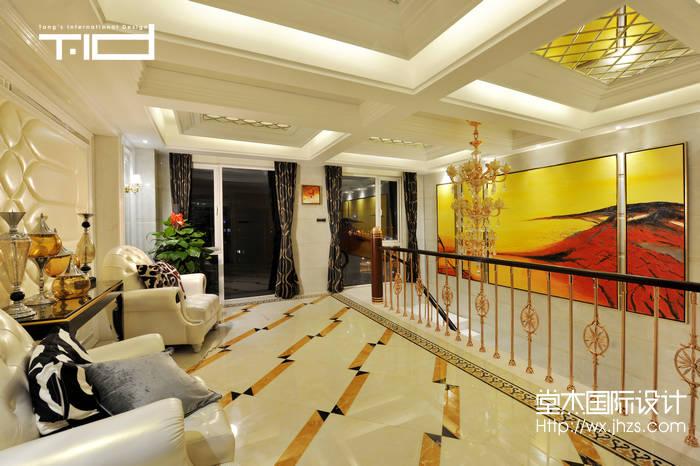 龙湖滟澜山300平现代奢华风格实景样板间装修-别墅-现代简约