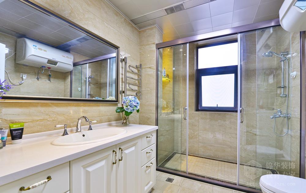 现代简约风格-中建溪岸观邸-复式-180平-卫生间-装修实景效果图